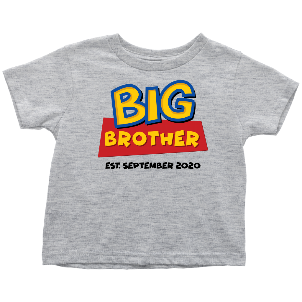 Custom Big Brother Toy Story Inspired Toddler Shirt - September 2020