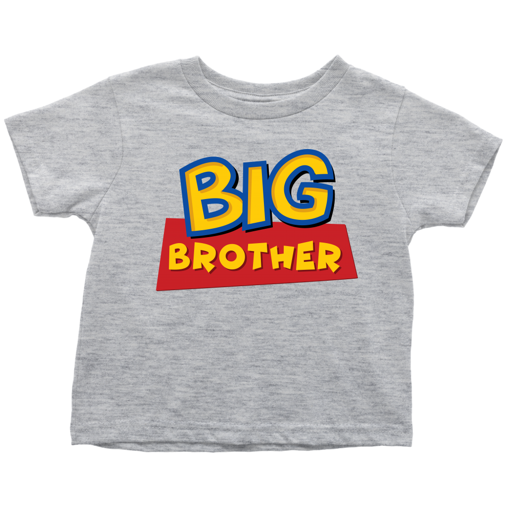 Big Brother - Toy Story Inspired Toddler T-Shirt - Gray