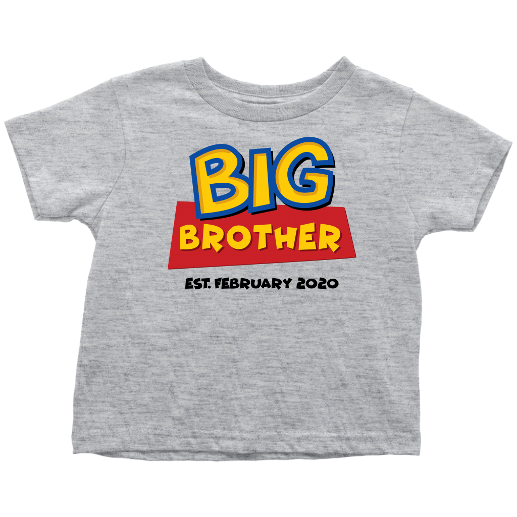 Custom Big Brother Toy Story Inspired Toddler Shirt - February 2020