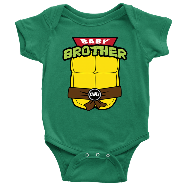 Custom Baby Brother Ninja Turtle Bodysuit -  Kaiden