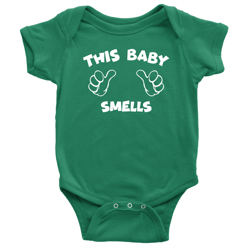 This Baby Smells - Funny Baby Onesie - Green
