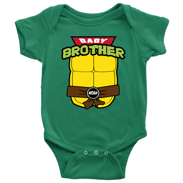 Custom Baby Brother Ninja Turtle Bodysuit -  Noah