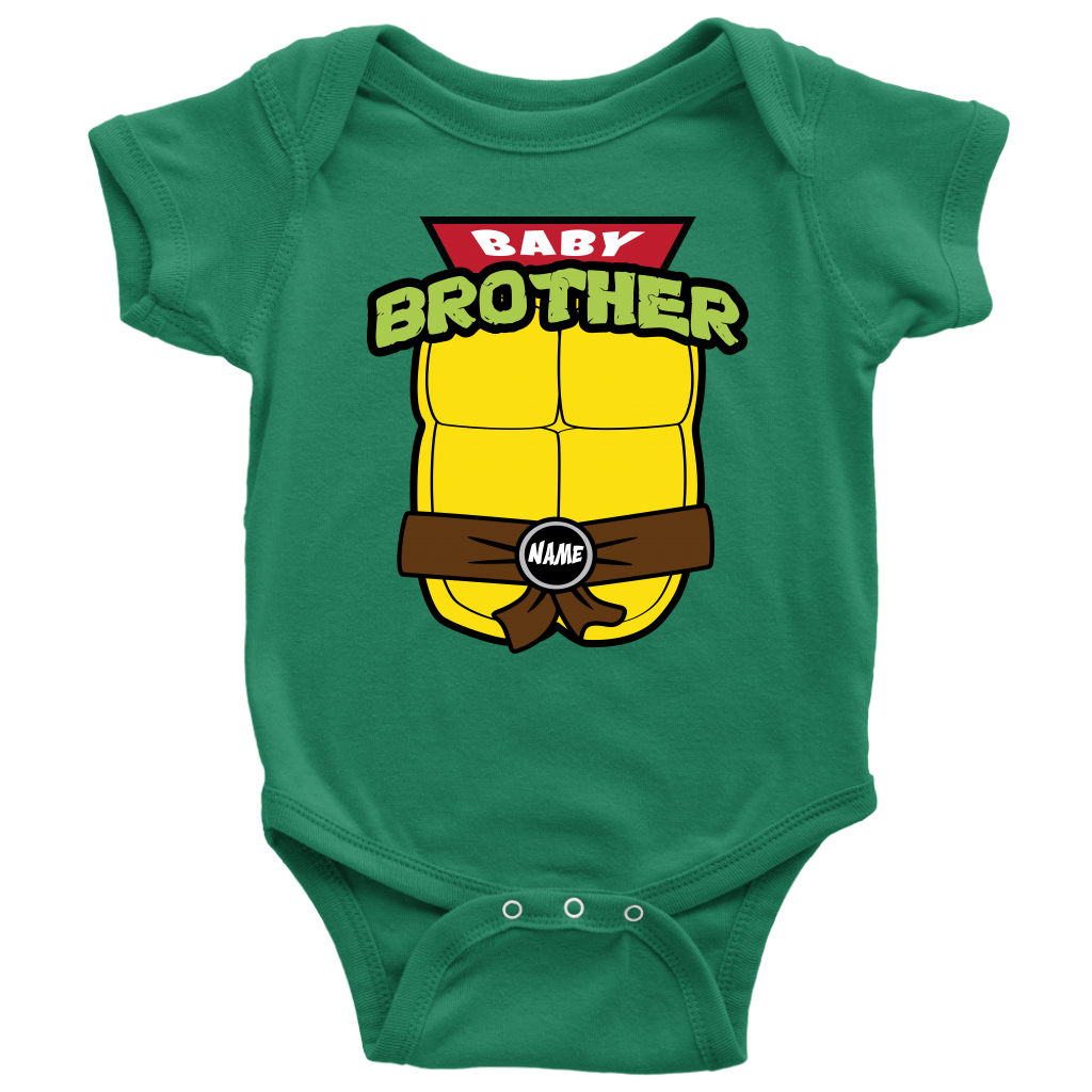 Custom Baby Brother Ninja Turtle Onesie