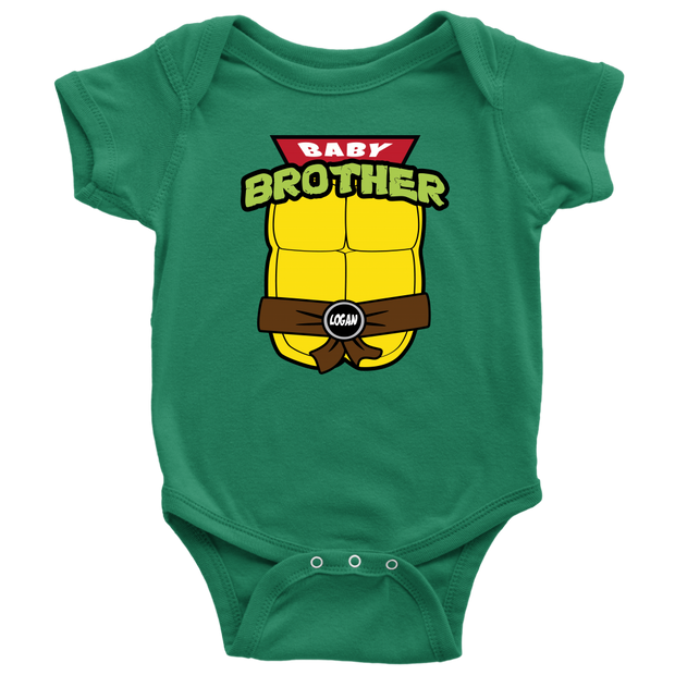 Custom Ninja Turtle Baby Brother Bodysuit - Logan