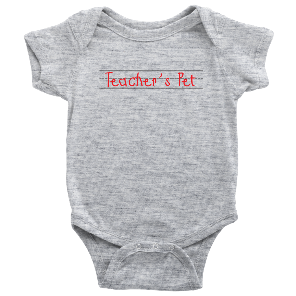 Teacher's Pet Baby Bodysuit - Gray
