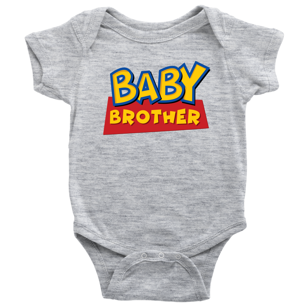 Baby Brother - Toy Story Inspired Baby Onesie - Gray
