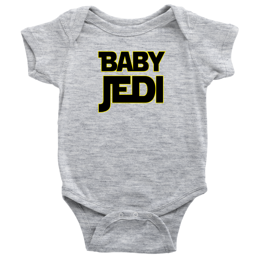 Baby Jedi - Baby Sibling Matching Onesie - Gray