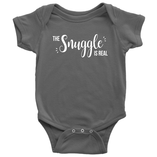 The Snuggle Is Real - Cute Baby Onesie - Asphalt