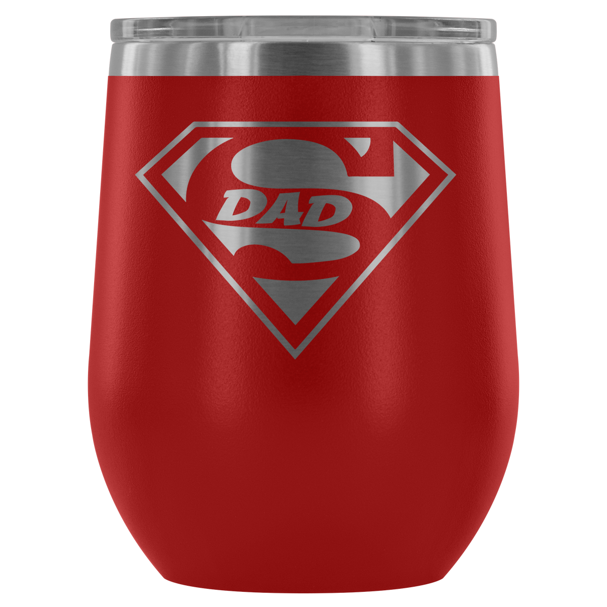 Superdad - 12oz Tumbler - Red