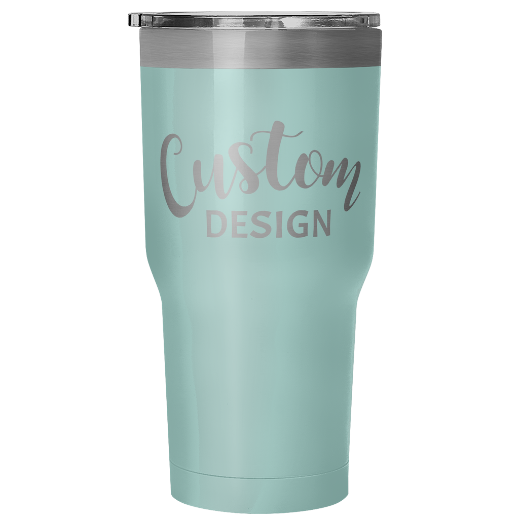 Custom 30 Ounce Hot & Cold Tumbler - Teal
