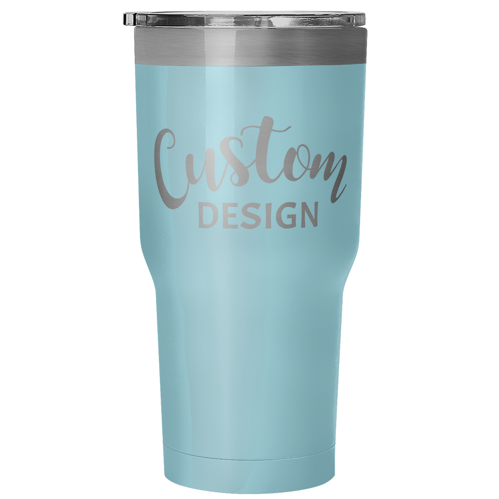 Custom 30 Ounce Hot & Cold Tumbler - Light Blue
