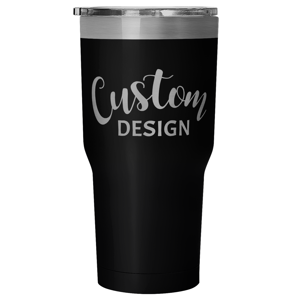 Custom 30 Ounce Hot & Cold Tumbler - Black