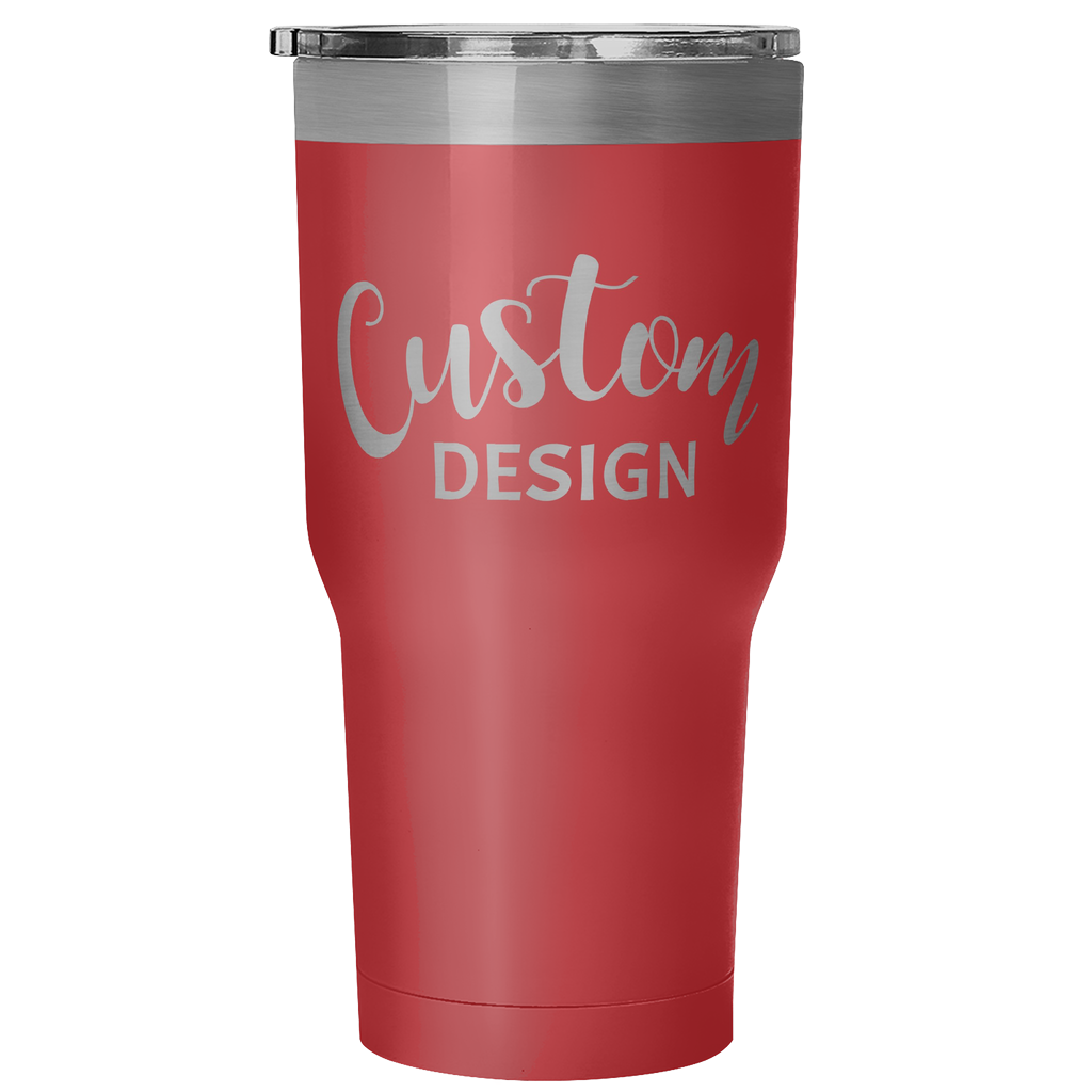 Custom 30 Ounce Hot & Cold Tumbler - Red