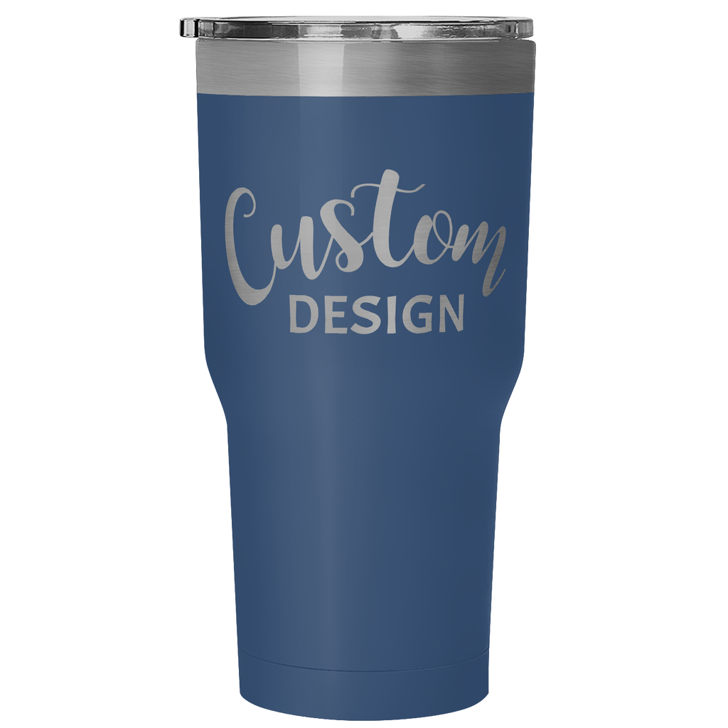Custom 30 Ounce Hot & Cold Tumbler - Blue
