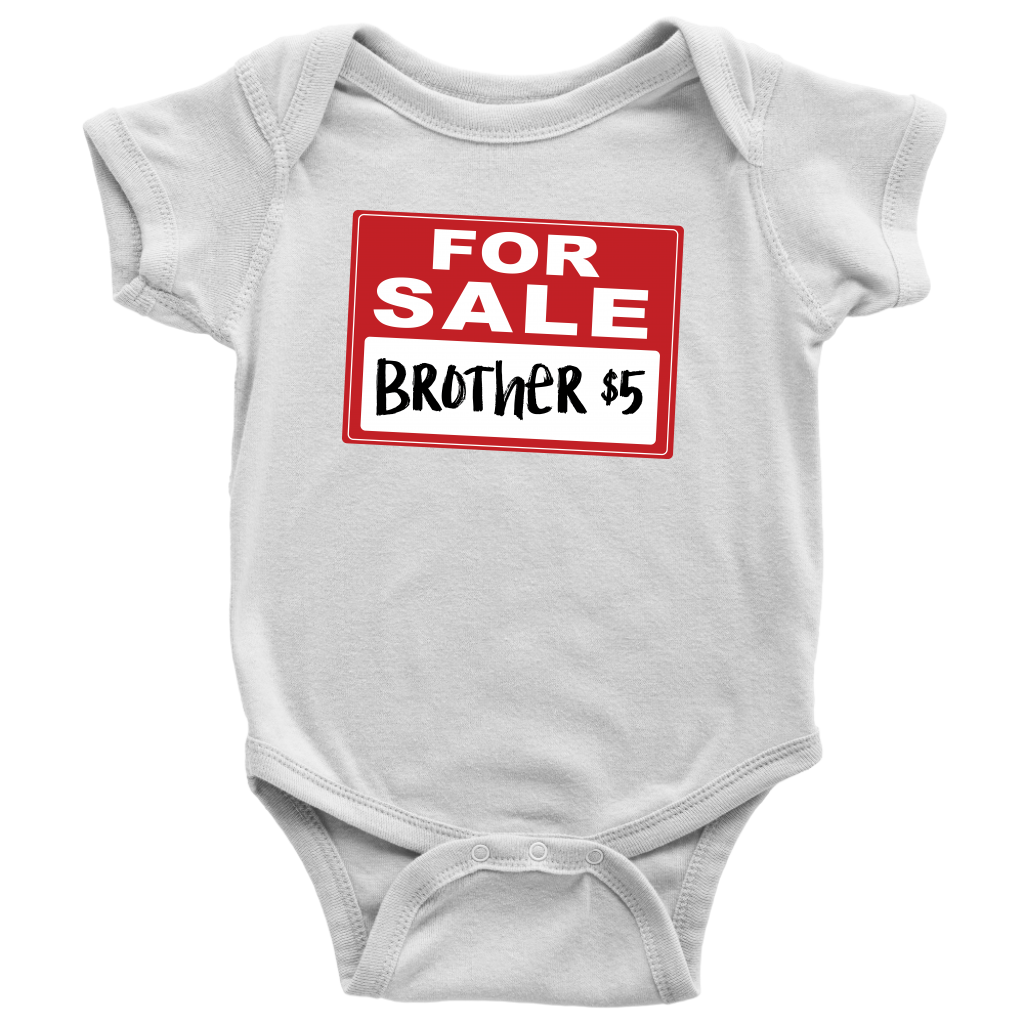 Brother for Sale - Funny Baby Onesie - White