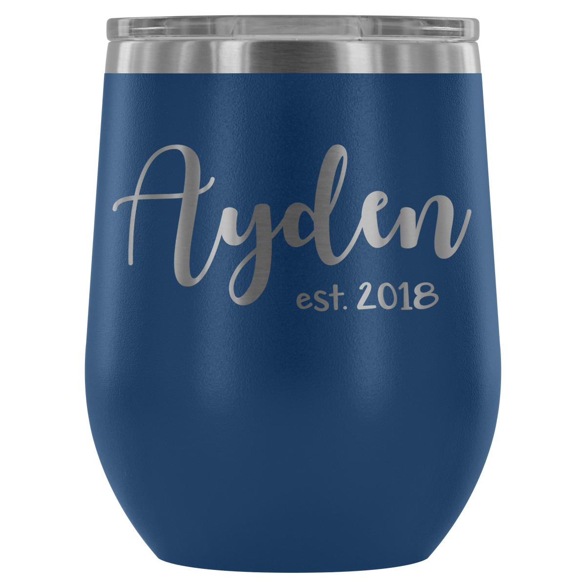 Custom Name Tumbler - Ayden est. 2018