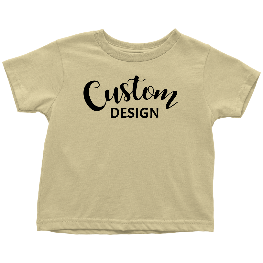 Custom Toddler T-Shirt - Yellow