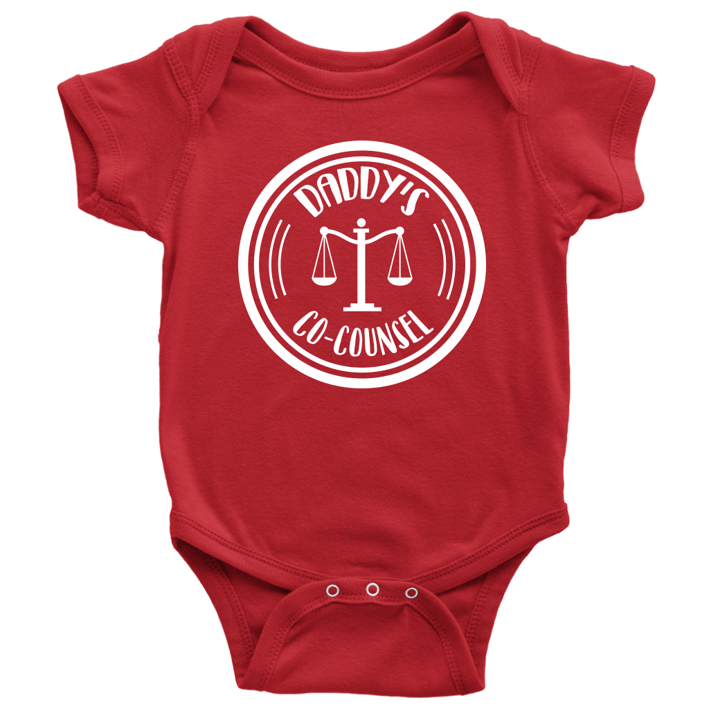 Daddy's Co-Counsel Baby Bodysuit - Red