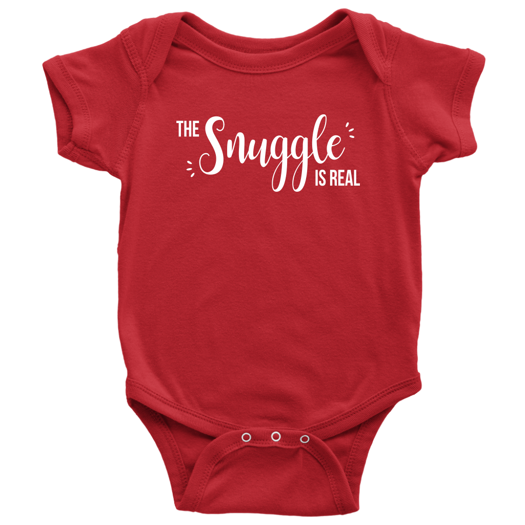 The Snuggle Is Real - Cute Baby Onesie - Red