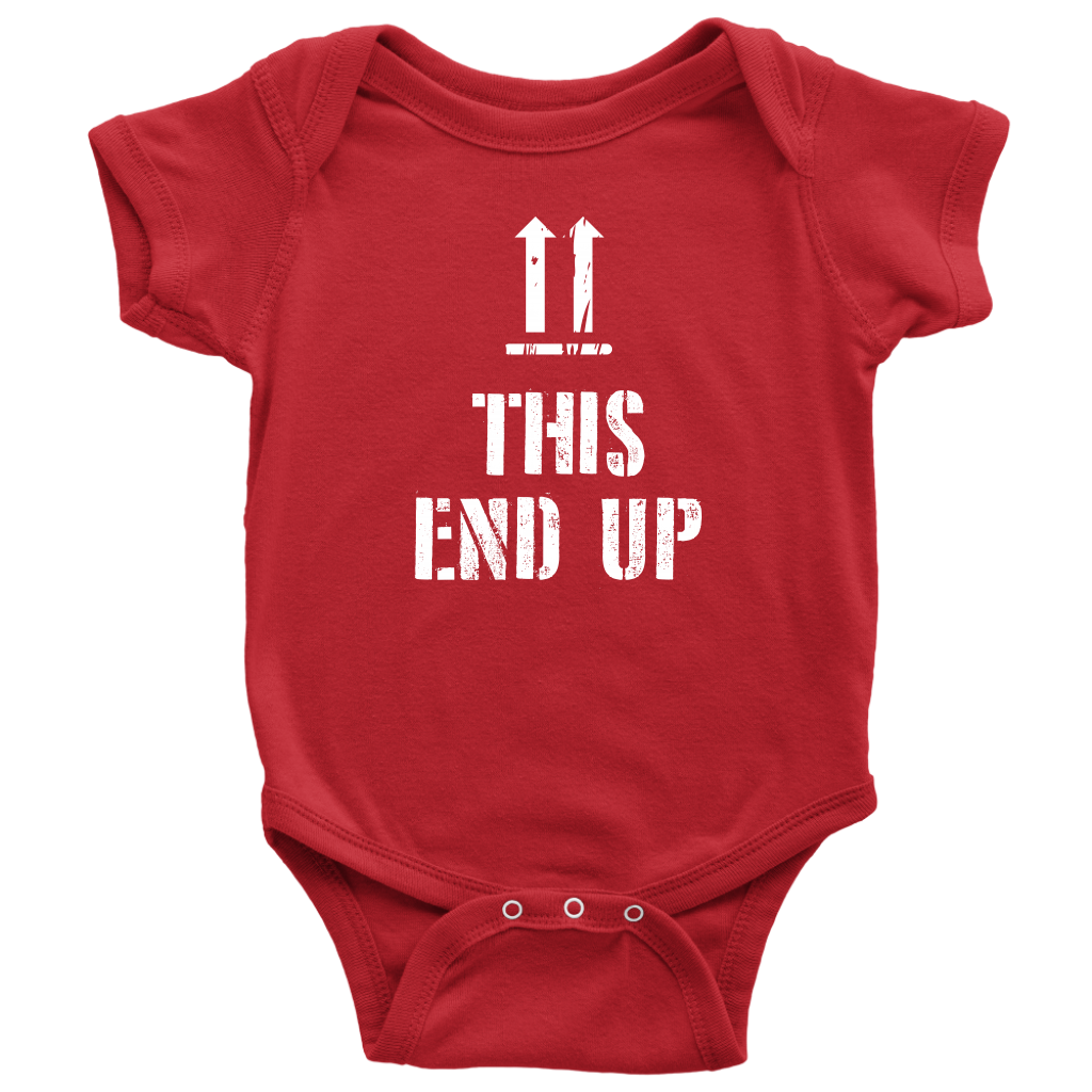 This End Up - Funny Baby Onesie - Red