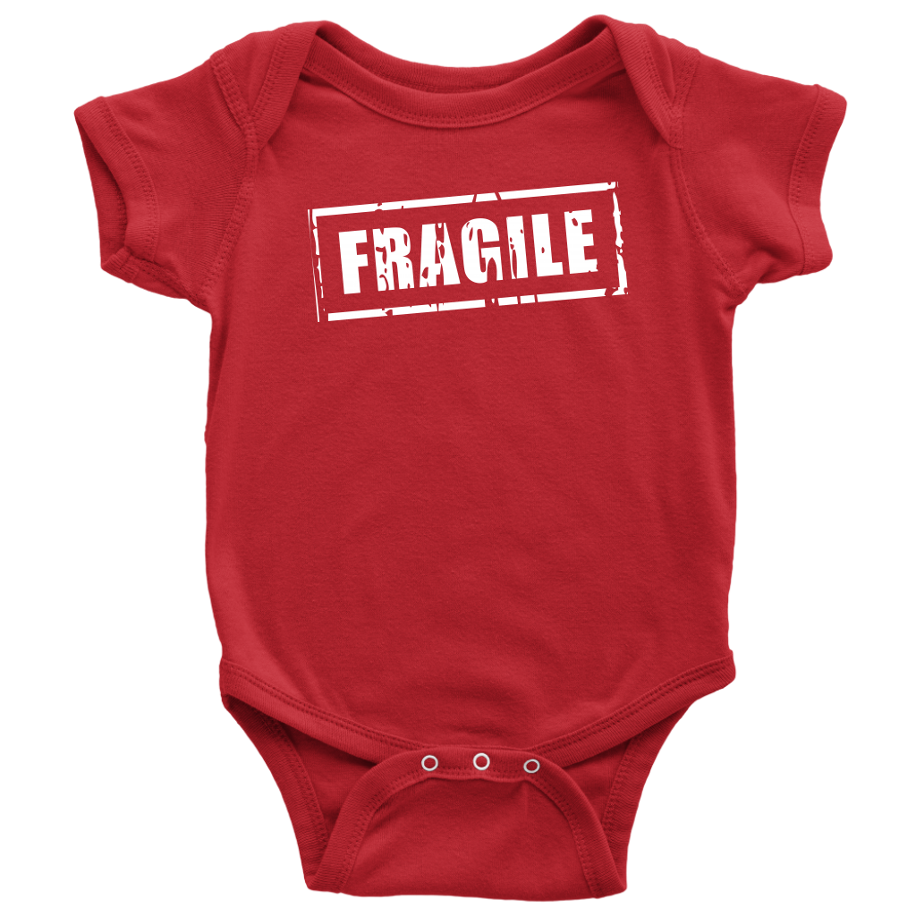 Fragile - Fun Newborn Baby Onesie - Red
