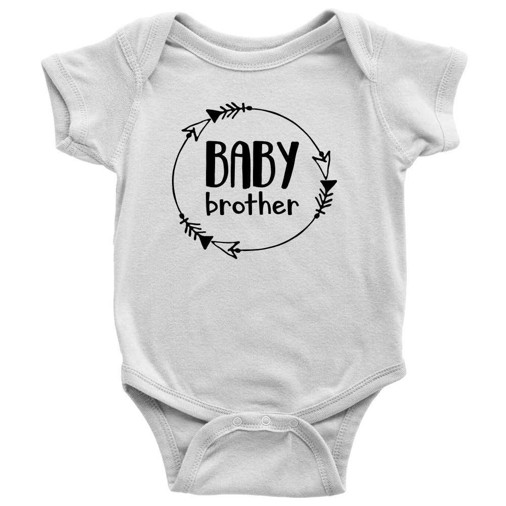 Baby Brother Onesie - White