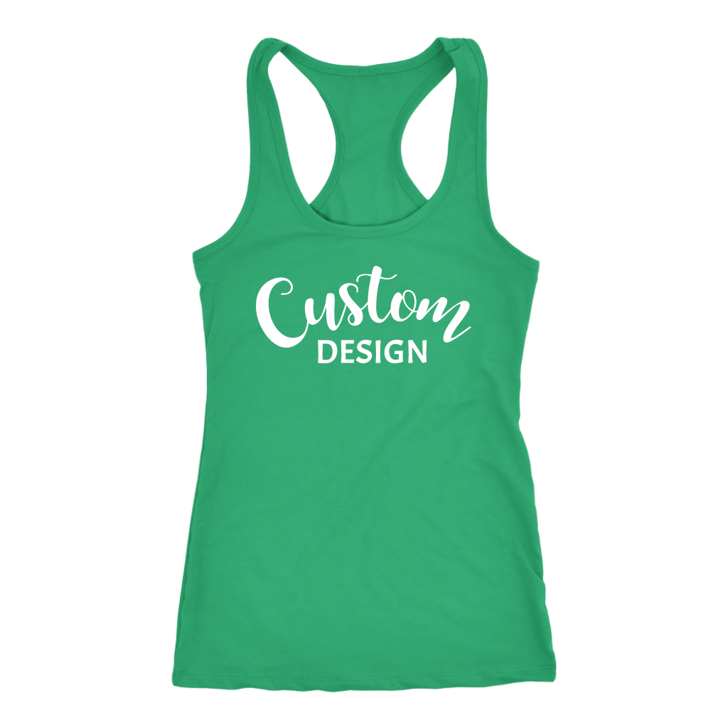 Custom Racerback Tank - Green