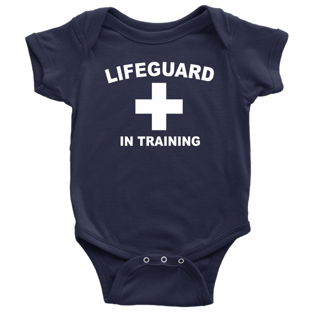 Lifeguard in Training Baby Bodysuit - Navy