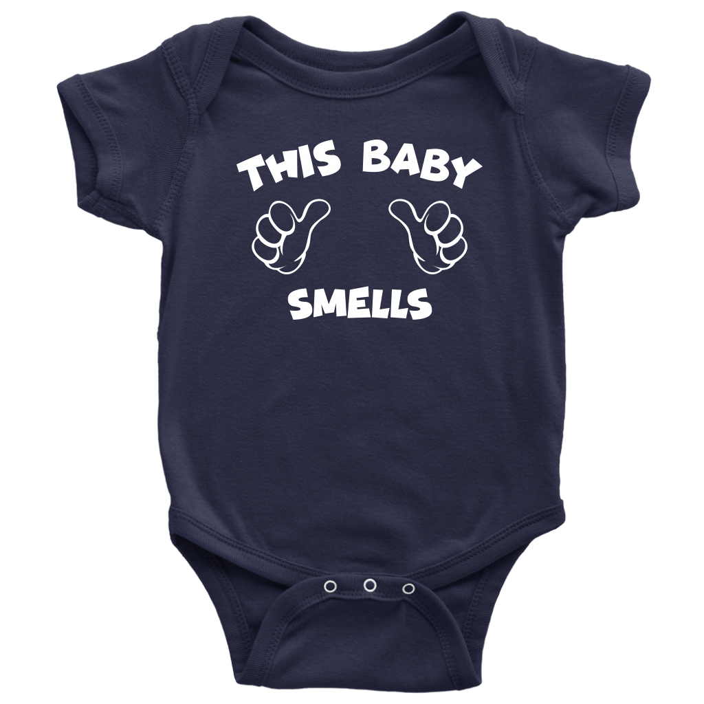 This Baby Smells - Funny Baby Onesie - Navy