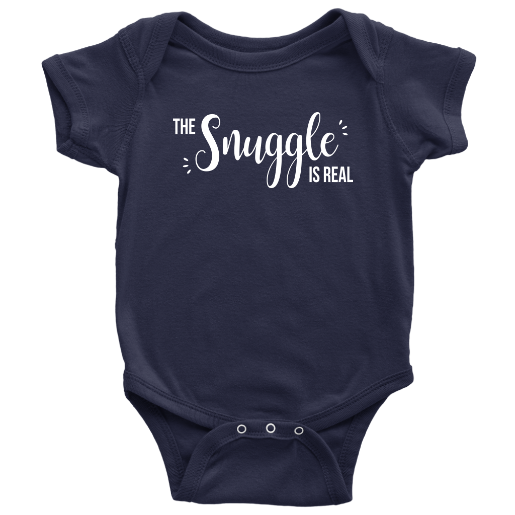 The Snuggle Is Real - Cute Baby Onesie - Blue