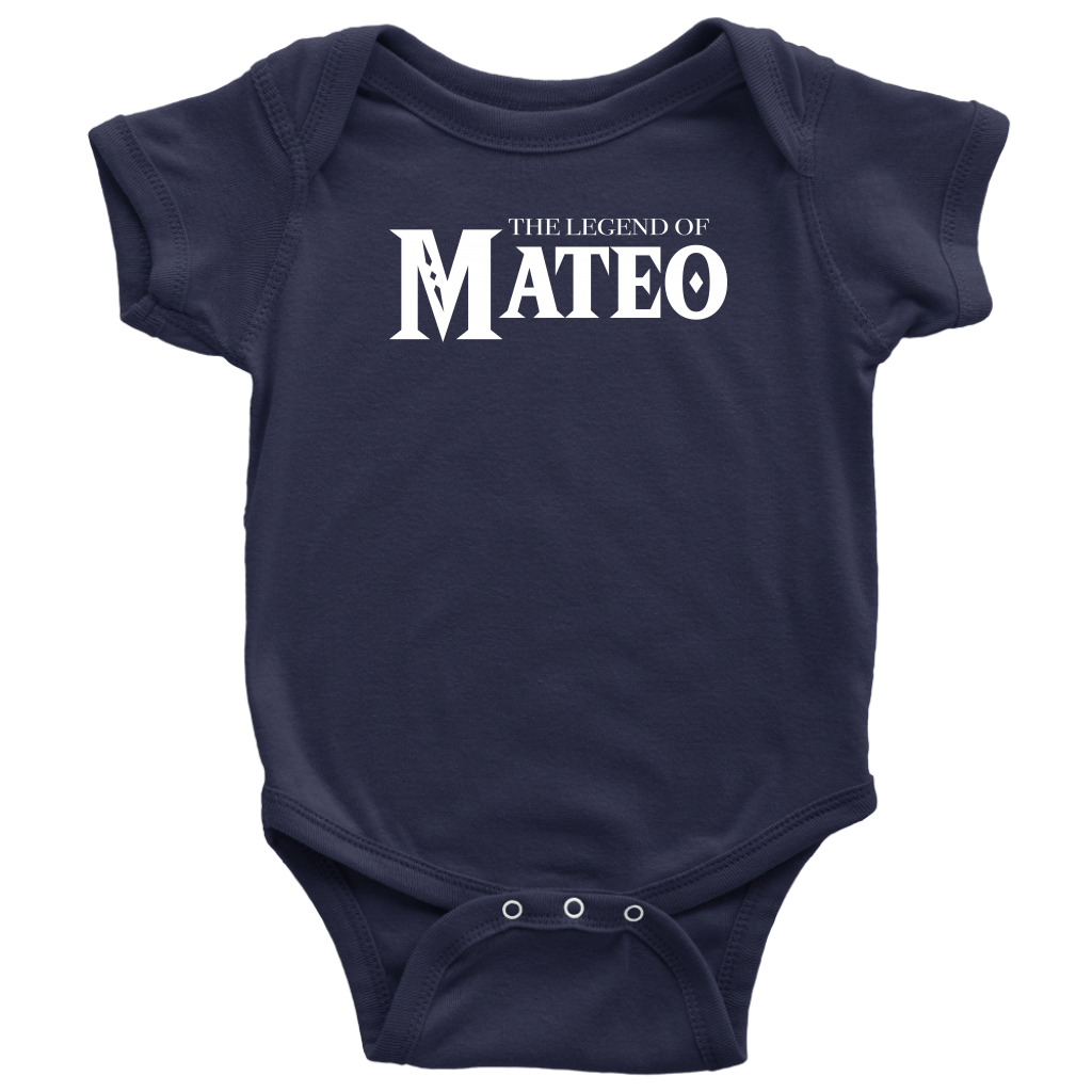 Custom Baby Bodysuit - The Legend of Mateo