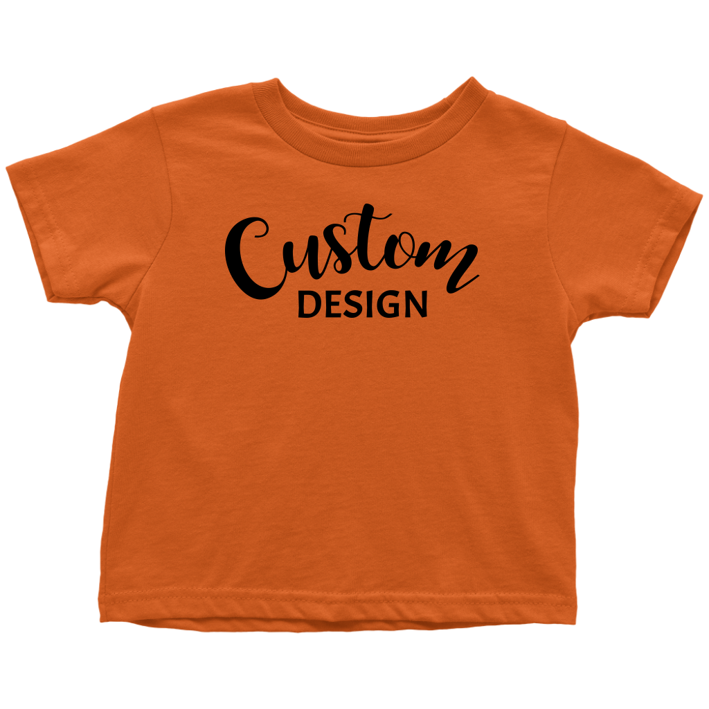 Custom Toddler T-Shirt - Orange