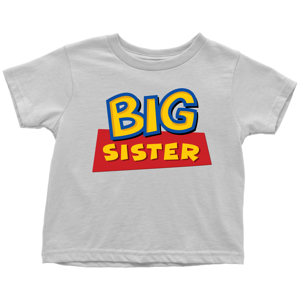 Big Sister - Toy Story Inspired Toddler T-Shirt - White