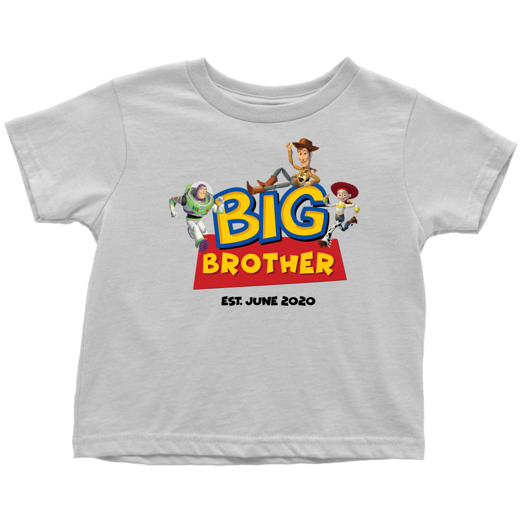 Custom Big Brother Toy Story Inspired Toddler Shirt with Characters- June 2020