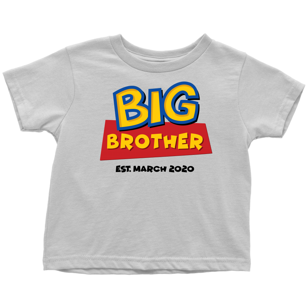 Custom Big Brother Toy Story Inspired Toddler Shirt - March 2020