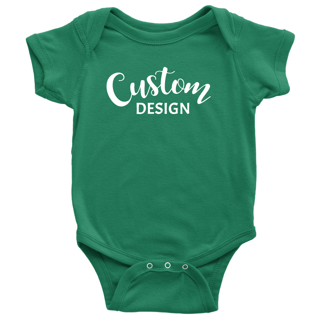 Custom Baby Onesie - Green