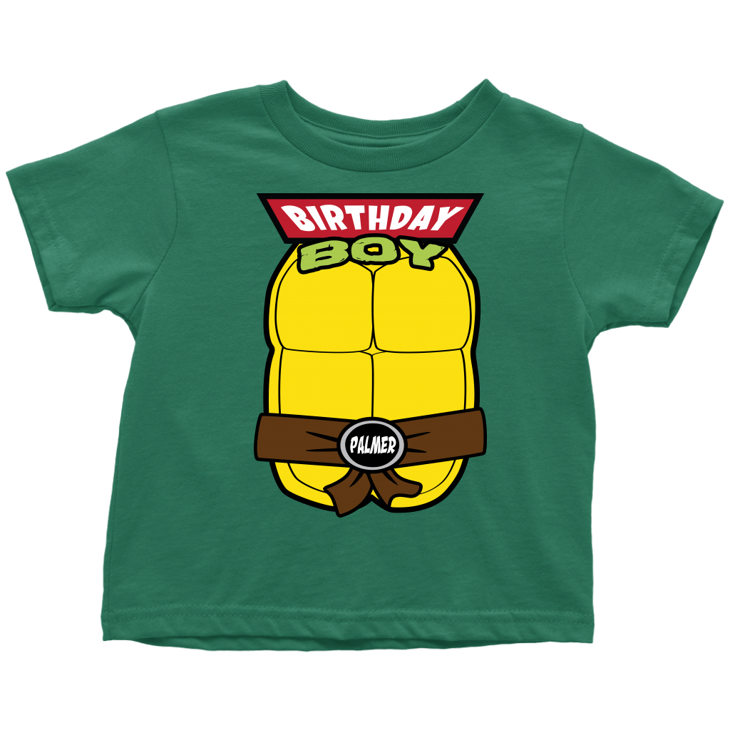 Custom Ninja Turtle Birthday Boy T-Shirt - Palmer