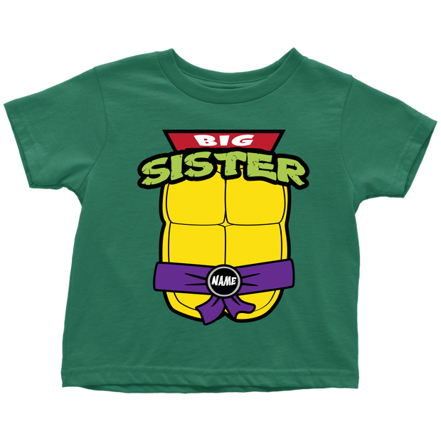 Custom Big Sister Ninja Turtle T-Shirt