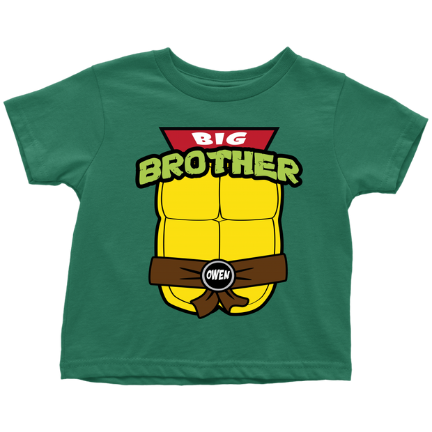 Custom Ninja Turtle Big Brother Shirt - Owen