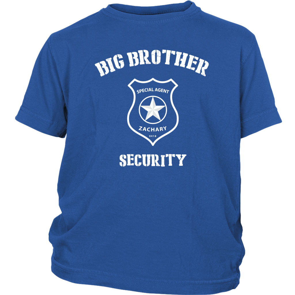 Custom Big Brother Security Youth Shirt - Zachary
