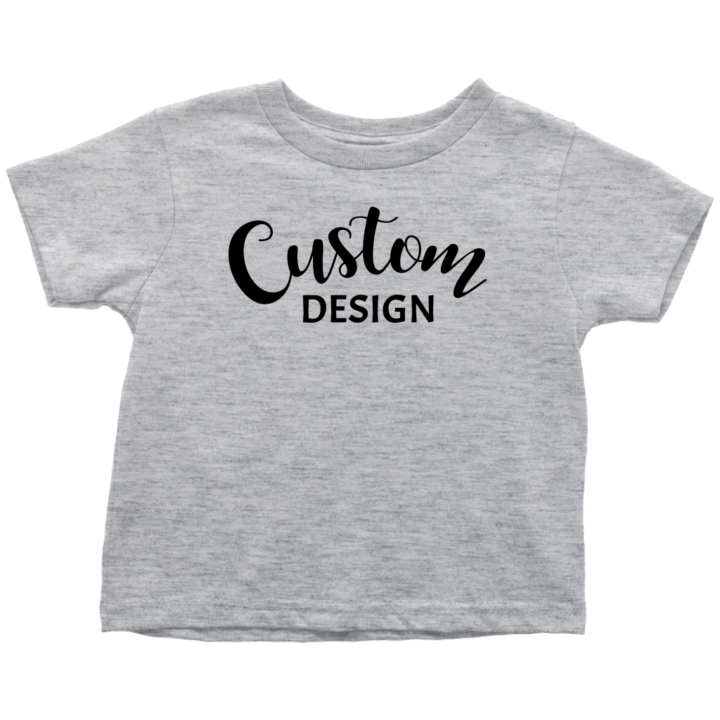 Custom Toddler T-Shirt - Gray