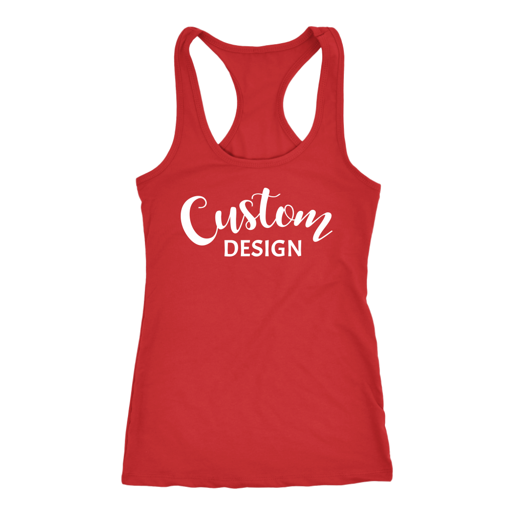 Custom Racerback Tank - Red