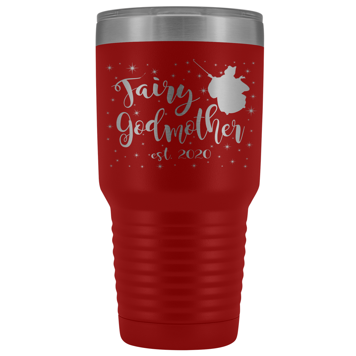 Custom Fairy Godmother 30 Ounce Vacuum Tumbler - Est 2020