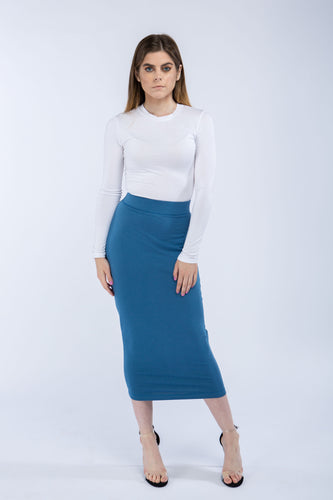 Nordest Stellar Blue Pencil Skirt