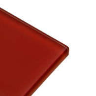 Deep Red - red subway glass tile