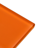 Orange - red, orange subway glass tile