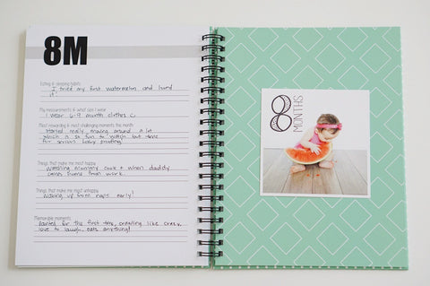8 Month Baby Book Page