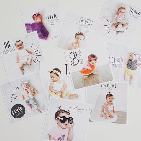 various baby month pictures
