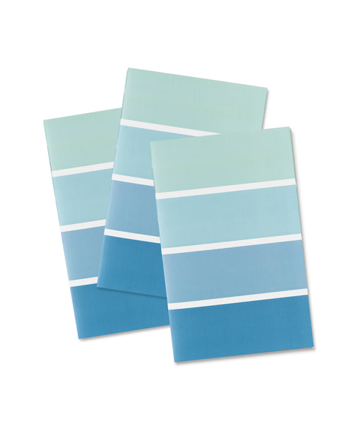 Pocket Notebook: Sea Glass - Wide Stripe