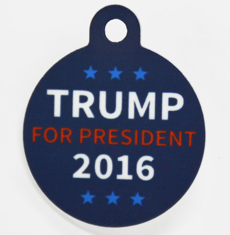 Round Trump For President Pet ID Tag